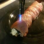 Sushi Roll flambe