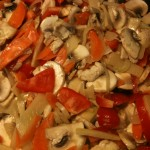 Add vegetable which doesn't take so long time to be ready, like mushroom