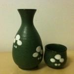 The bottle (left) calls Tokkuri, the vessel calls Ochoko or Choko.