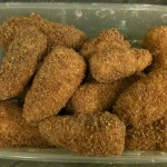 Dip them in milk again, letting excess drip off, then coat with breadcrumb.