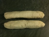4. Make thinly rolled circles of dough.